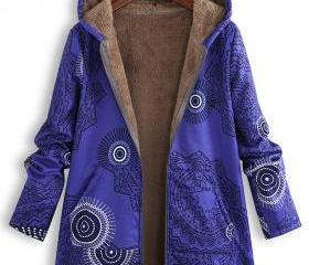 Women Hooded Coat Vi..