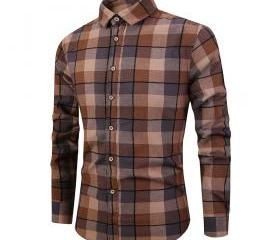 Men Plaid Printed Sh..
