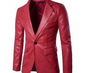 Men Blazer Jacket PU..