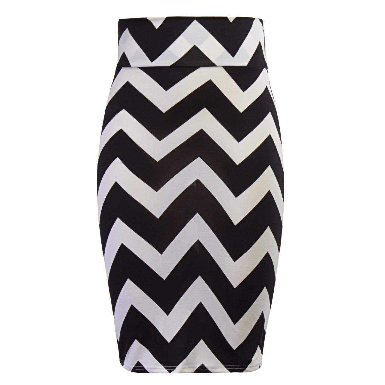 Women Striped Pencil Skirt Slim High Waist Knee-Length OL Work Office Bodycon Skirt 3#