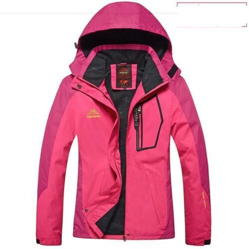 Women Winter Ski Snow Warm Outdoor Sports Jacket Coat Thicken Outwear Coat rose red