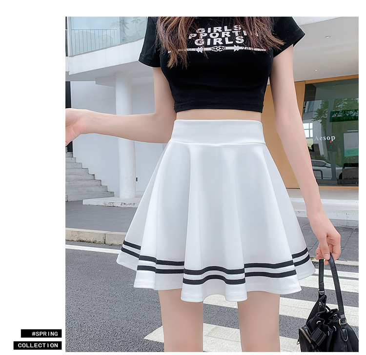 High Waist 2021 Women Summer Skirt Sexy Skater Vintage Mini Skirt