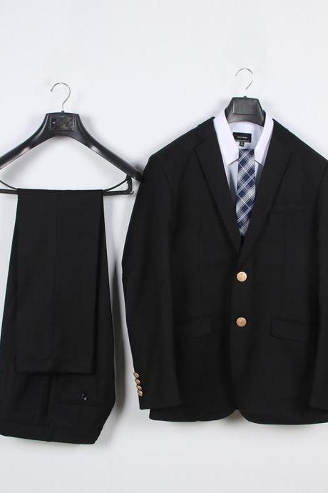Preppy Style Japanese DK Student Uniforms Men Suit(Jacket+Pants) Boys Two Pieces Sets black