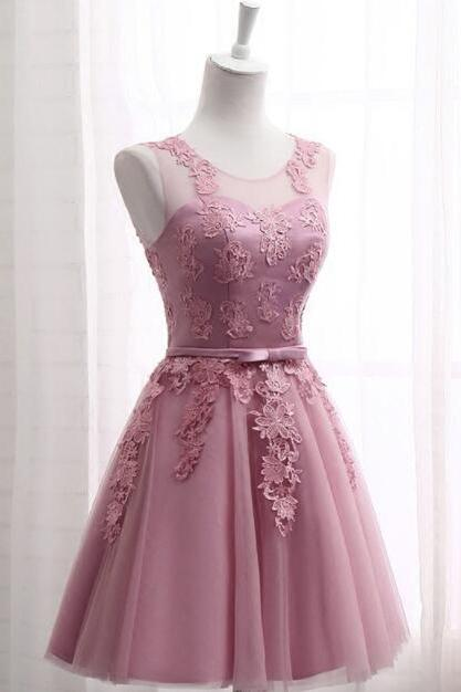 Cute Teen Short Homecoming Dresses,Lace Prom Dress, Tulle Cocktail Dresses mini School Gowns