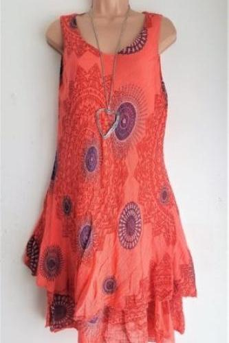 Women Floral Printed Mini Dress Summer Sleeveless Plus Size A Line Boho Beach Sundress red