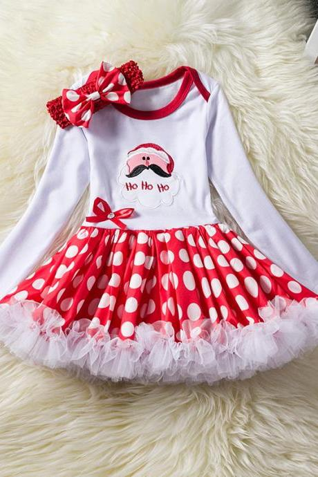 Toddler Kids Baby Girls Dress Long Sleeve Santa Claus Children Ball Gown Party Birthday Christmas Clothes 7#