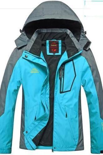 Women Winter Ski Snow Warm Outdoor Sports Jacket Coat Thicken Outwear Coat moon blue