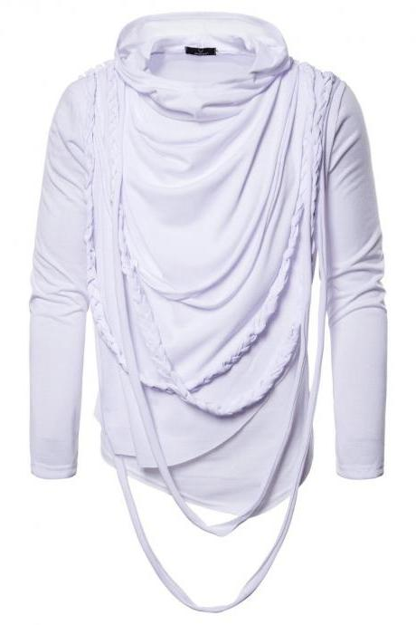 New Fashion Spring Autumn Winter Clothing Trend Long-sleeved Pullovers Men T Shirt Tops white