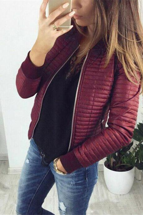 Women's Pocket Leather Jacket Ultralight Warm Overcoat Coat Outwear Tops