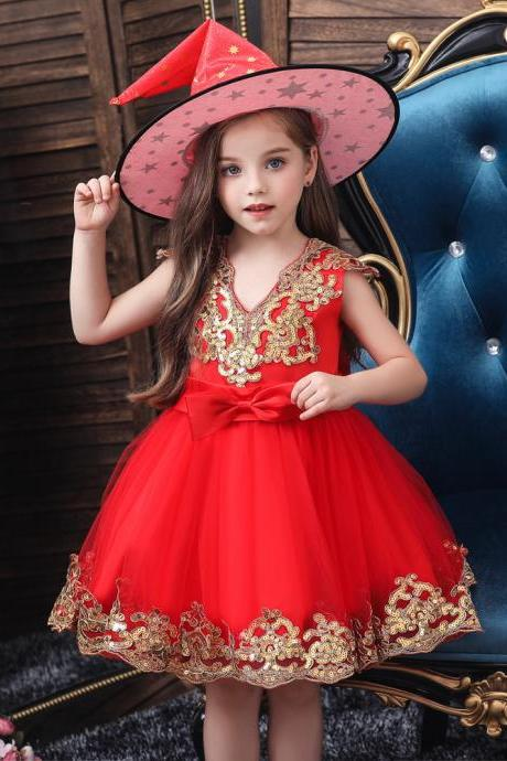 New Clothes girls princess dress Neonatal Baptism girl children Sequins party Wedding dress