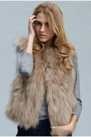 women Faux fur-like fox fur faux fur Waistcoat ladies autumn winter short vest jacket