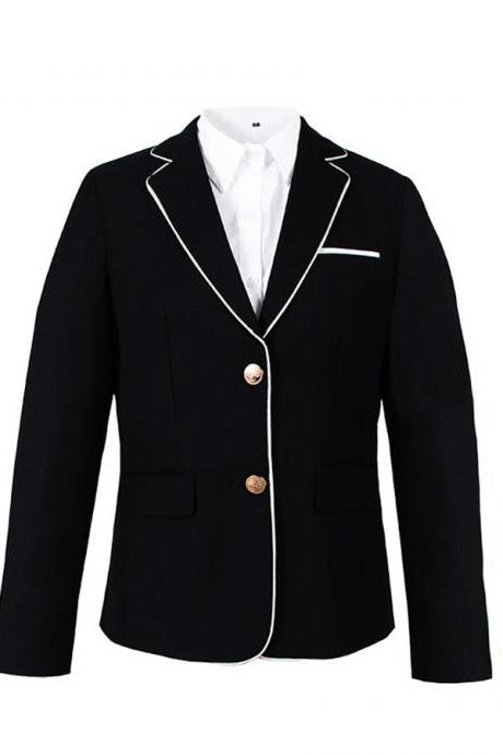 JK uniform female jacket small suit 2019 spring autumn clothing Japanese fashion British campus style ladies color suit