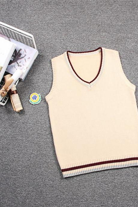 Summer solstice arrives waistcoat college British style JK uniform V-neck male and female students school uniform class vest