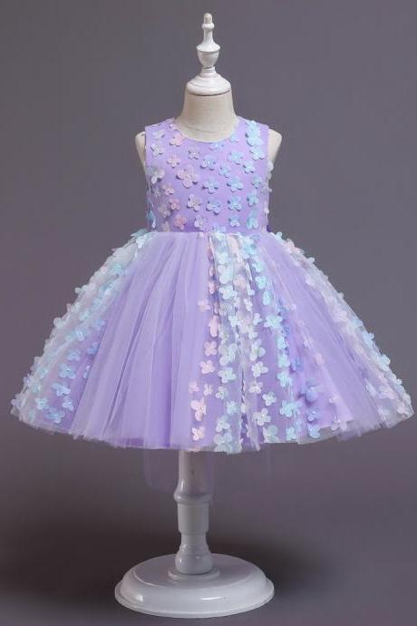 Baby Girls Clothes Teens Lace Embroidery Evening Wedding Tutu Princess Dress For Girl Elegant Birthday Party Dress Girl Dress