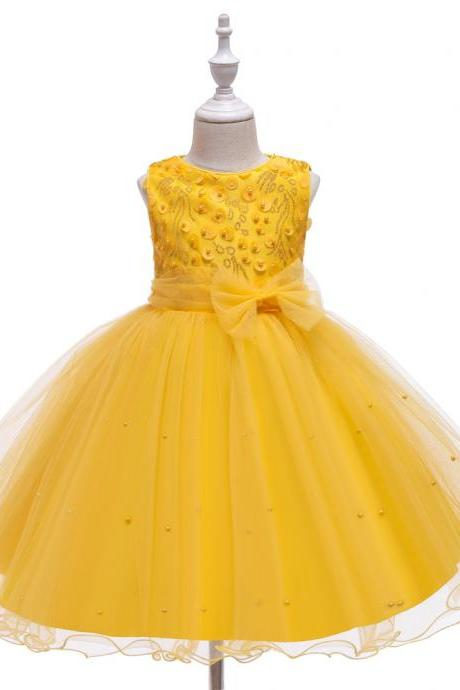 Princess Flower Girl Dress Summer Tutu Wedding Birthday Party Dresses For Girls Children's Costume Teenager Prom dress