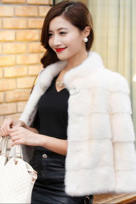 Women Faux Fur Coat Jacket Cardigan Outwear Party Clothing Top Quality Warm Winter Wedding Dress