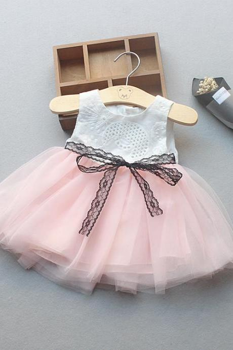 Summer new baby princess dress girls sleeveless dress baby lace lace dress