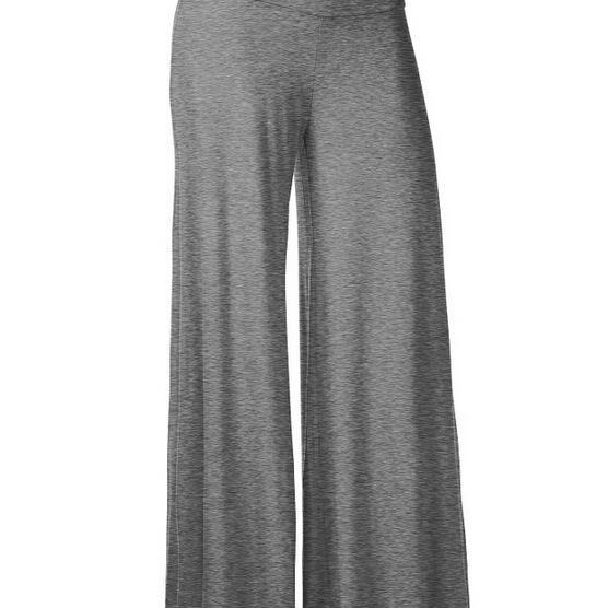 Women Slim Flare Pants High Waist Long Trousers Casual Office Work Wide Leg Trousers gray