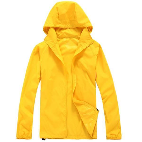 Unisex Sun Protection Clothes Outdoor UV-Proof Quick Dry Fishing Climbing Coat Women Men Hooded Jacket yellow