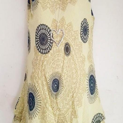 Women Floral Printed Mini Dress Summer Sleeveless Plus Size A Line Boho Beach Sundress pale yellow