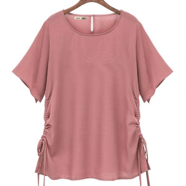 Summer Women T shirt O-Neck solid Short Sleeves Tee Shirt Breathable Female T shirt top