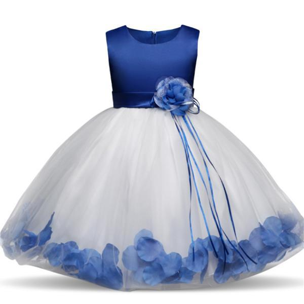 Flower Girl Tutu Dresses Weddings Elegant Gown Baby Kids Sequins Party Girl Children Dresses