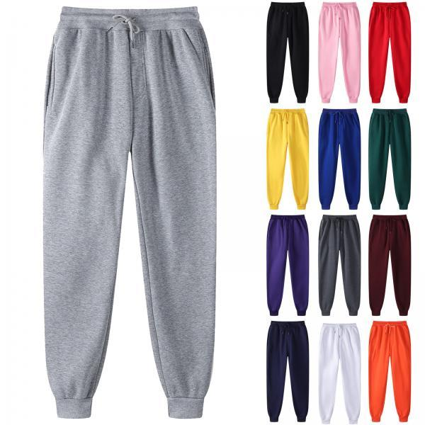Men Pants Streetwear Joggers Harajuku Sweatpants Legging Padded Casual Sports Elastic Waist Training Fitness Trousers