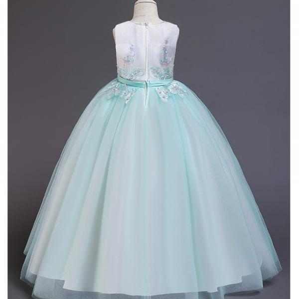 Girls princess dress Baby kids party and wedding Embroidery Wholesale clothing Cute Prom dresses