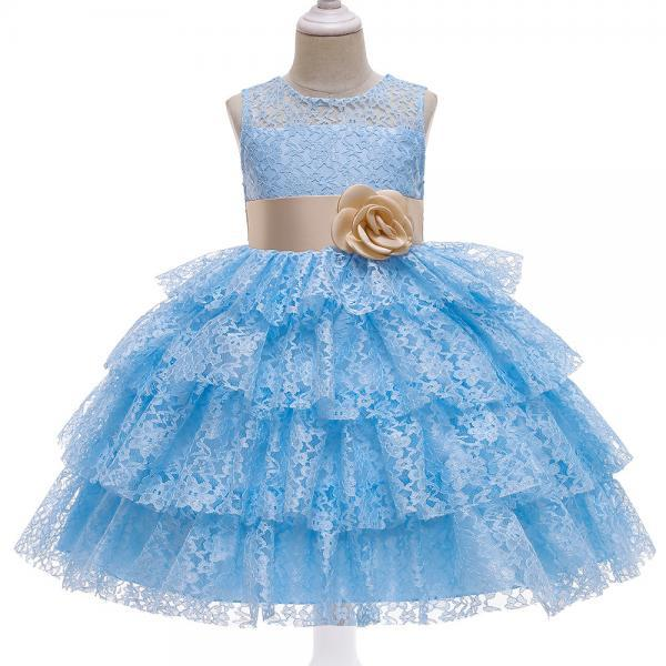 Kids Princess Dresses Clothing Flower Party Elegant Wedding Dress 5 6 8 10 Years