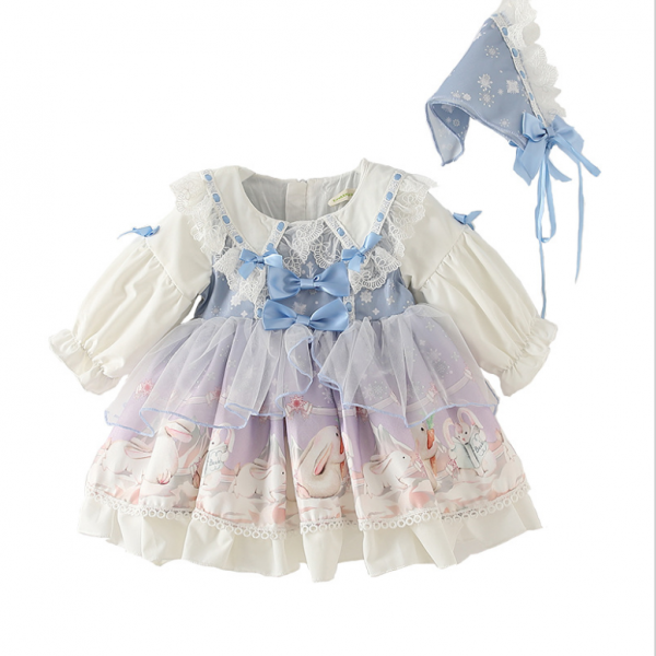 Spanish palace style Lolita maid dress birthday party children Lolita girl dress